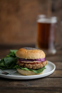 Brown Rice, Oat, & Nut Veggie Burgers   Naturally Ella