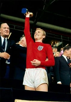 England 4 West Germany 2 in 1966 at Wembley. England captain Bobby Moore lifts the World Cup.