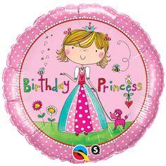 Birthday Princess Balloon by Rachel Ellen by PartySurprise on Etsy