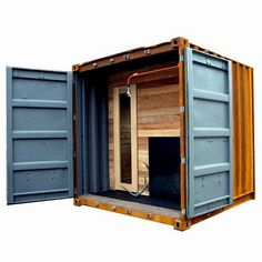 Sauna Box Is A Self-Contained Steam Room In A Shipping Container