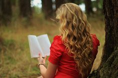 Reading by a Tree