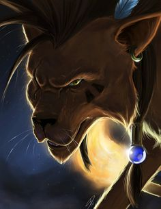"""It's pretty hard standing on two feet . Humans only look at appearances, anyway. Any way you look at it, I'd say I make a fine human being.""   -Red XIII"