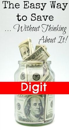 Digit the Easy Way to Save Without Thinking About It! - The Frugal Navy Wife saving money, ways to save money