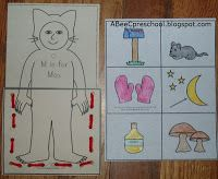 """Monster Day: """"Where the Wild Things Are"""". We worked on fine motor development and beginning sounds by lacing together a Max pocket to hold pictures of things that begin with the letter M. A, Bee, C, Preschool Alphabet Activities, Preschool Activities, Preschool Letter M, Summer Themes, Summer Books, Beginning Sounds, Wild Things, Book Themes, Fine Motor"""
