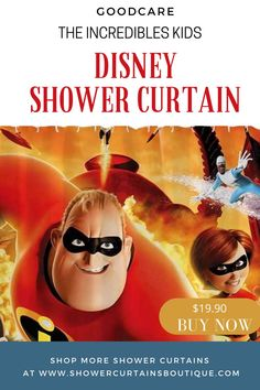 $19.90 Goodcare The Incredibles Kids Disney Shower Curtain | disney bathroom | disney bathroom ideas | #disney Disney Shower Curtain, Disney Bathroom, Blog Categories, Improve Yourself, The Incredibles, Curtains, Kids, Young Children, Blinds