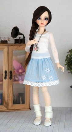 Linen Skirt for slim BJD MSD 1/4 Minifee by Karapisdiza on Etsy