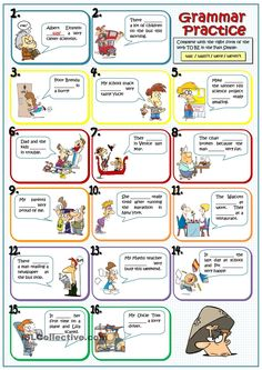 WAS - WERE- WASNT- WERENT. ESL worksheet of the day by rmartinandres on April 18, 2015