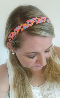Bright Pink Gold Purple Orange Scuba Blue Flat Braided Stay Put Athletic Headband Headwrap In Newborn, Baby, Toddler, Child, Kid, Teen, & Adult Sizes! No Slip Headache Free Headbands are Perfect for Team Sports, Cheer, Vollyeball, Running, Yoga, Basketball, Matching Mother Daughter Sister Twin Friend Matching Family Photos, Photo Props, Sorority Bid Day Gifts, Big Little Gifts, Rush, New Baby Gifts, Baby Shower Gifts,& Birthday Gifts by petesboutique