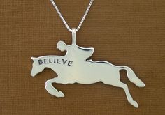 Believe and Achieve Equestrian Pendants and Necklaces, Horse Pendants and Necklaces | Loriece.com