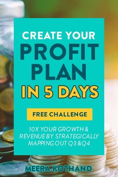Want to have the most profitable second half of the year? It all starts with creating a solid profit plan! In this free challenge you will create a profit plan that positions you for success in &