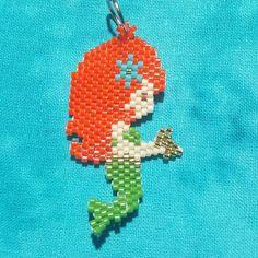 Little mermaid collection: Zoey #mermaid #mermaidjewelry #brickstitch #beadwork #beadedmermaid #beadedjewelry #miyukibeads #miyuki #miyukidelica #delicaseedbeads #delicas