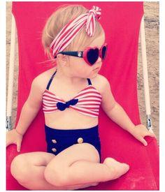 Aliexpress.com: Comprar 1 2 años lindo bebé niñas rain bow Fringe Bikini swim traje de baño para el niño de cintura alta traje de baño de mar Biquini infantils de bikini stock fiable proveedores en Kiss the Baby sky