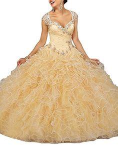 Wallbridal Beaded Cap Sleeves Luxury Crystal Ruffled Orga... http://www.amazon.com/dp/B01AEAWLZW/ref=cm_sw_r_pi_dp_AVumxb1THJ3E2