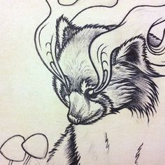 """Woot! I got a variant print, """"Wonder [Sketch]"""", from Bestial Spirits by Mat Miller on @NeonMob - Check it out!"""