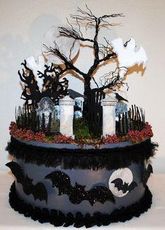 """SPOOKtacular"" Halloween Graveyard Centerpiece"