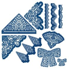 Buy Tattered Lace A Touch of Lace Collection of 18 Dies from CreateAndCraft. Create And Craft, All Craft, Art And Craft Design, Diy Design, Diy Paper, Paper Crafts, Tattered Lace Cards, Cut Image, Scan And Cut