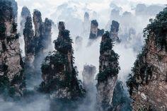 Montañas Tianzi - China inspiraron los monte aleluya de AVATAR.