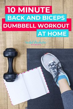 If you don't have time to go to the gym, try this effective back and biceps workout at home. Grab some dumbells to challenge yourself and you can define and sculpt lean, sexy back muscles and biceps in no time! Dumbbell Workout At Home, Back And Bicep Workout, Back And Biceps, Back Muscles, At Home Workouts, Fitness Tips, Fitness Motivation, Fitness Workouts, Pregnancy Workout