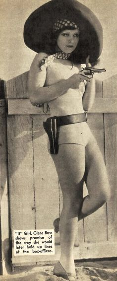 """Clara Gordon Bow (/ˈborn/; July 29, 1905 – September 27, 1965) was an American actress who rose to stardom in silent film during the 1920s. It was her appearance as a plucky shopgirl in the film It that brought her global fame and the nickname """"The It Girl"""". Bow came to personify the Roaring Twenties and is described as its leading sex symbol."""