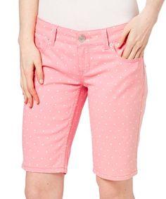 Look what I found on #zulily! Pink Polka Dot Pipa Bermuda Shorts #zulilyfinds