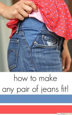 DIY Clothes DIY Refashion: DIY Take out your jeans waistband tutorialaka make your pants bigger! DIY Clothes DIY Refashion: DIY Take out your jeans waistband tutorialaka make your pants bigger! Sewing Hacks, Sewing Tutorials, Sewing Patterns, Sewing Tips, Sewing Projects, Serger Projects, Learn To Sew, How To Make, How To Wear