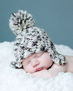 Crochet Pattern Snow Baby Hat Instant Download all by RAKJpatterns