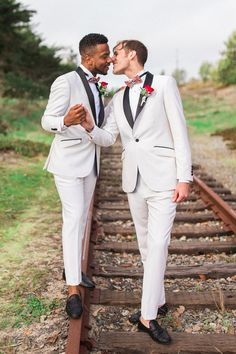 Mark and Darin's intimate wedding was filled with love and glitter. Their closest friends and family got to witness their union and an incredibly heartwarming Cute Gay Couples, Interracial Couples, Man In Love, Black Love, Gay Pride, California Wedding, Wedding Photos, Wedding Ideas, Closest Friends