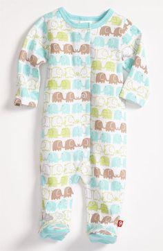Zutano 'Elephant' Footie (Infant) | Nordstrom