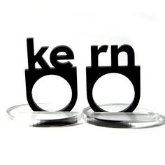 another great kerning application. #type #fonts http://www.etsy.com/listing/31648776/typographic-kern-acrylic-ring-set
