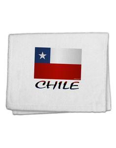"Chile Flag 11""x18"" Dish Fingertip Towel"