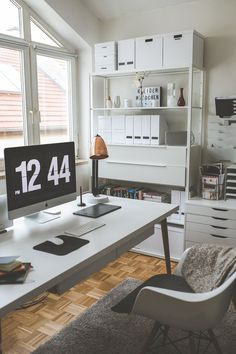 My study Stylish and functional furnishing ideas for the home . - My study Stylish and functional furnishing ideas for the home office! Home Office Design, Home Office Decor, Home Decor, Office Designs, Hacks Ikea, Office Bed, Home Office Furniture Desk, Office Organization At Work, Office Interiors