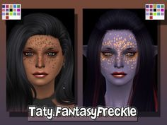 The Sims Resource: Fantasy Freckle by Taty • Sims 4 Downloads