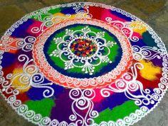 Pongal kolam rangoli designs with dots, Makarsankranti Images Simple Rangoli Designs Images, Rangoli Designs Flower, Rangoli Border Designs, Rangoli Designs Diwali, Rangoli Designs With Dots, Diwali Rangoli, Beautiful Rangoli Designs, Kolam Designs, Easy Rangoli