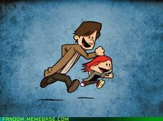The Doctor and Amy Pond, Calvin and Hobbes style.