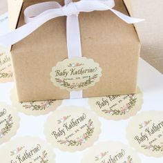 Personalized Scalloped Baby Shower Labels by Beau-coup