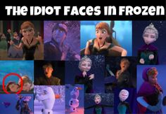 The idiot faces in Frozen. #Frozen #Disney #Funny