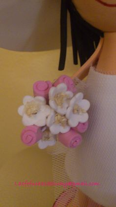 Fofunovios mini personalizados,  - detalle ramo/Personalized mini fofucho dolls - detail of bride bouquet