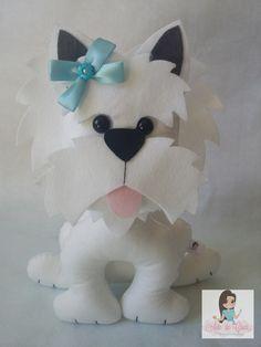 Dog Crafts, Felt Crafts, Diy And Crafts, Paper Crafts, Felt Patterns, Craft Patterns, Felt Dogs, Felt Decorations, Felt Fabric