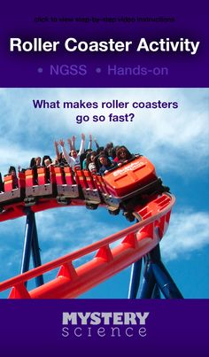 Roller Coaster Activity - free hands-on science activity for 2nd, 3rd or 4th grade elementary kids. Part of a complete unit on Energy: Energy & Motion. Meets Common Core and NGSS.