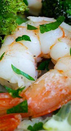 Sheet Pan Shrimp Scampi and Roasted Broccoli