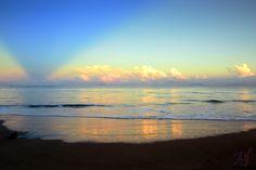 Beautiful sunrise at Anyer Beach