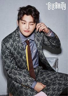 Seo In Guk - The Celebrity Magazine January Issue '16 °i notice he has a weed suit on #lol