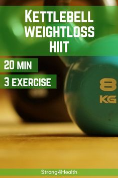 Kettlebell HIIT fat burning workout. If you only have 30min in your schedule, this short but intense kettlebell workout will burn your fat and jump-start your metabolism.