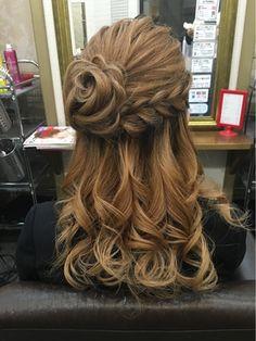 お花ハーフアップ Pretty Hairstyles, Braided Hairstyles, Wedding Hairstyles, Hair Inspo, Hair Inspiration, Fries, Hair Arrange, Hair Setting, About Hair