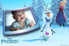 Aquí podrás crear un excelente fotomontaje de Frozen con las princesas  y el muñeco de nieve en el bosque encantado.
