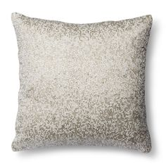 Threshold™ Decorative Beaded Pillow - Silver | Target