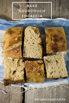 A traditional Italian bread, a sourdough Focaccia recipe brushed with olive oil and just flakes of sea salt and rosemary sprinkled on top. Sourdough Focaccia Recipe, Bread Recipes, Baking Recipes, Bread Ingredients, Italian Bread, Tray Bakes, All You Need Is, Banana Bread