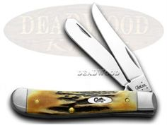 CASE XX Genuine Deer Stag Mini Trapper Pocket Knife - CA5534 | 5534 - 021205055343