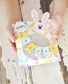 décoration de Pâques avec une carte de voeux DIY très originale
