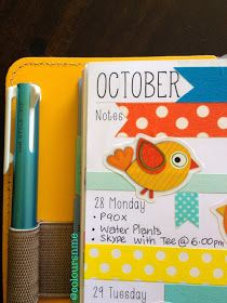 Coloursnme: Upcoming Week in my Filofax Original Yellow Personal Size and Kikki.K Large Time Planner